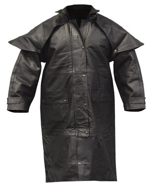 Redline Men's Classic Duster Premium Leather w/ Zip-Out Liner, Black M-DUSTER - Wisconsin Harley-Davidson