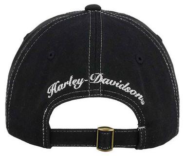 Harley-Davidson Screamin' Eagle Women's Glamour Baseball Cap, Black HARLLH003800 - Wisconsin Harley-Davidson