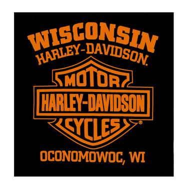 Harley-Davidson Men's Inferno Rebel Short Sleeve Crew-Neck T-Shirt, Black - Wisconsin Harley-Davidson