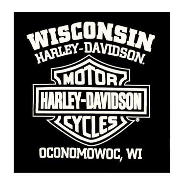 Harley-Davidson Men's Commander Wing Bar & Shield Long Sleeve Shirt, Black - Wisconsin Harley-Davidson