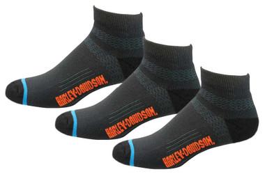Harley-Davidson Men's Comfort Cruiser Low-Cut Riding Socks D99203270, 3 Pairs - Wisconsin Harley-Davidson
