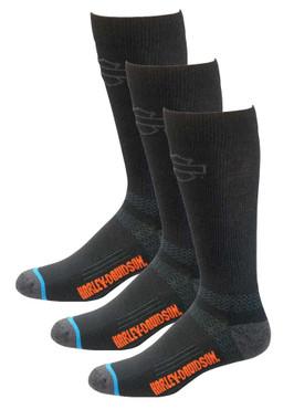 Harley-Davidson Men's Comfort Cruiser Wicking Riding Socks D99203170, 3 Pairs - Wisconsin Harley-Davidson