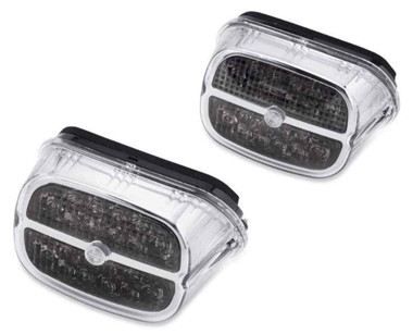 Harley-Davidson B&S LED Tail Lamp - Smoked Lens & Chrome Bezel 67800459 - Wisconsin Harley-Davidson