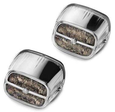 Harley-Davidson Bar & Shield LED Tail Lamp - Smoke Lens & Chrome Bezel 67800134 - Wisconsin Harley-Davidson