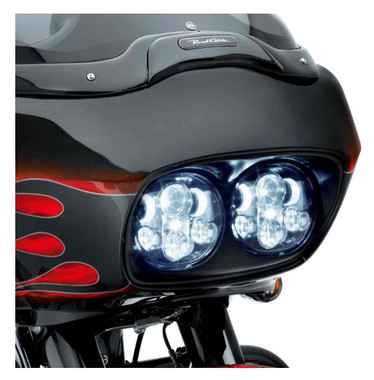 Harley-Davidson Road Glide Daymaker Projector LED Headlamp Black/Chrome 67700112 - Wisconsin Harley-Davidson