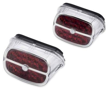Harley-Davidson LED Tail Lamp - Red Lens/Chrome Bezel, No Plate Window 67800457 - Wisconsin Harley-Davidson