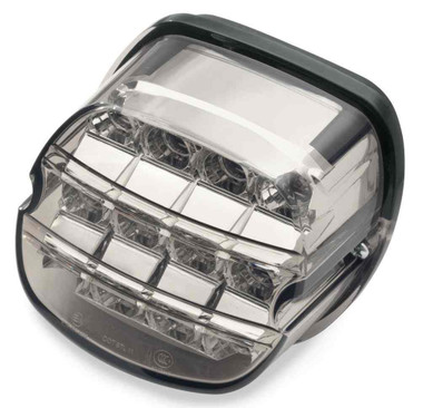 Harley-Davidson LED Tail Lamp Layback Smoke Lens w/ No Plate Window 67800358 - Wisconsin Harley-Davidson