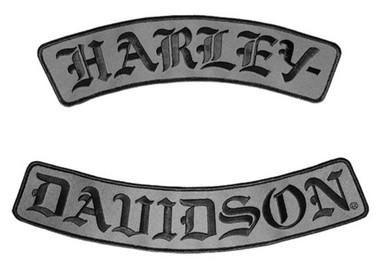 Harley-Davidson Embroidered H-D Script Emblem, 3X Size, 12 x 2.5 inch EM022757 - Wisconsin Harley-Davidson