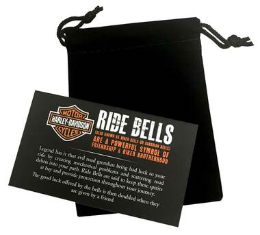 Harley-Davidson Sculpted Rose Gold B&S Hammered Ride Bell, Chrome Finish HRB081 - Wisconsin Harley-Davidson