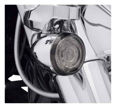Harley-Davidson Lenses For LED Bullet Turn Signal Insets - Smoked 67800643 - Wisconsin Harley-Davidson