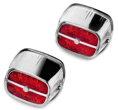 Harley-Davidson Bar & Shield LED Tail Lamp - Red Lens & Chrome Bezel 67800133 - Wisconsin Harley-Davidson