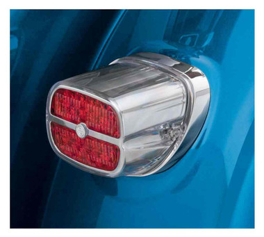 Harley-Davidson Bar & Shield LED Tail Lamp - Red Lens & Chrome Bezel 67800133 - Wisconsin Harley-Davidson