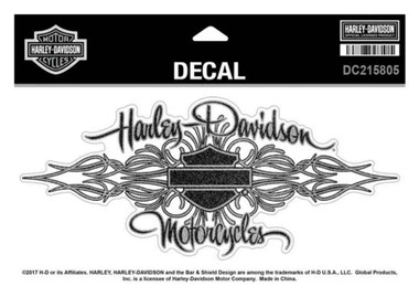 Harley-Davidson Signature Glitter Decal, Size XL 8.125 x 3.625 inches DC215805 - Wisconsin Harley-Davidson