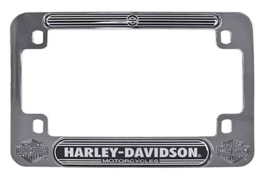 Harley-Davidson H-D Script Chrome Motorcycle Plate Frame, 7.5 x 5 inches MF02206 - Wisconsin Harley-Davidson