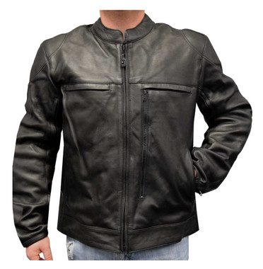 Redline Men's Armor Cowhide Leather Lined Motorcycle Jacket, Black M-13 - Wisconsin Harley-Davidson