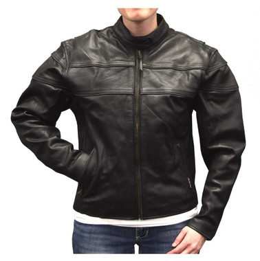 Redline Women's Mid-Weight Reflective Leather Motorcycle Jacket, Black L-3200 - Wisconsin Harley-Davidson