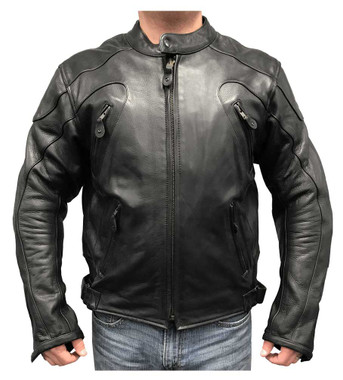 Redline Men's Armor Cowhide Leather Sport Motorcycle Jacket, Black M-36 - Wisconsin Harley-Davidson