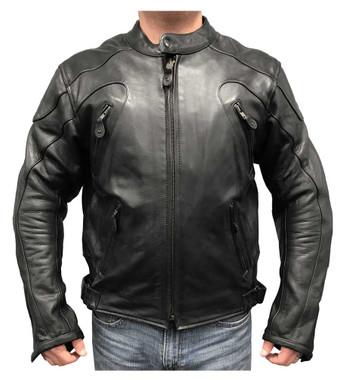 Redline Men's Armor Cowhide Leather Sport Motorcycle Jacket, Black M-36 - Wisconsin Harley-Davidson