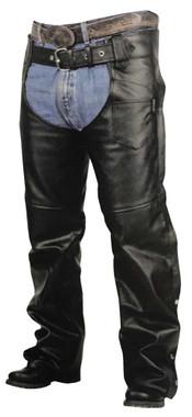 Redline Unisex Cut Heavy-Weight Buffalo Leather Motorcycle Chaps M-1600 - Wisconsin Harley-Davidson