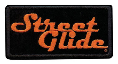 Harley-Davidson Embroidered Street Glide Emblem Patch, Small 4 x 2 in. EM647062 - Wisconsin Harley-Davidson
