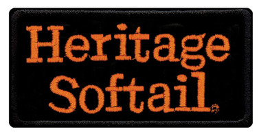 Harley-Davidson Embroidered Heritage Softail Emblem Patch, SM 4 x 2 in EMB048643 - Wisconsin Harley-Davidson