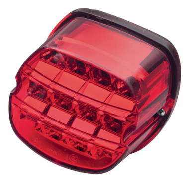 Harley-Davidson Layback LED Tail Lamp, Red Lens, Fits Road King Models 67800357 - Wisconsin Harley-Davidson