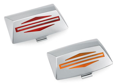 Harley-Davidson Bar & Shield Logo Fender Tip Lens Kit - Chrome Finish 59081-96 - Wisconsin Harley-Davidson