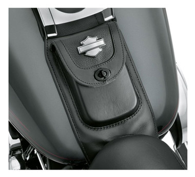Harley-Davidson Premium Tank Panel w/ Pouch, Fits Fat Boy Models 91135-09 - Wisconsin Harley-Davidson