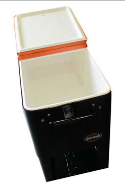 Harley-Davidson Forged in Iron Sturdy Rolling Cooler, Black & Orange HDL-10071 - Wisconsin Harley-Davidson