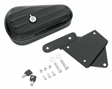 Harley-Davidson Softail Toolbox - Gloss Black Finish, Left Hand Mount 64216-09 - Wisconsin Harley-Davidson