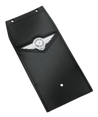 Harley-Davidson Leather Tank Panel w/ Fat Boy Concho Logo, Black 91134-01 - Wisconsin Harley-Davidson