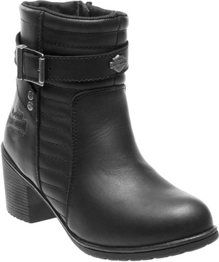 Harley-Davidson Women's Saffron 5-Inch Black Leather Motorcycle Boots D87124 - Wisconsin Harley-Davidson