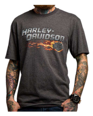 Harley-Davidson Men's Infernus Chaos Short Sleeve T-Shirt, Charcoal 5504-HC8D - Wisconsin Harley-Davidson