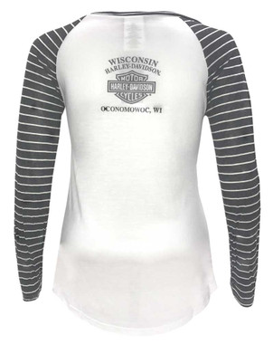 Harley-Davidson Women's Incremental Delusions Long Sleeve Raglan Tee 5V34-HD0A - Wisconsin Harley-Davidson