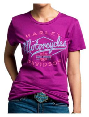 Harley-Davidson Women's Twisted Drifter Short Sleeve Crew Neck Tee 5J27-HC9T - Wisconsin Harley-Davidson