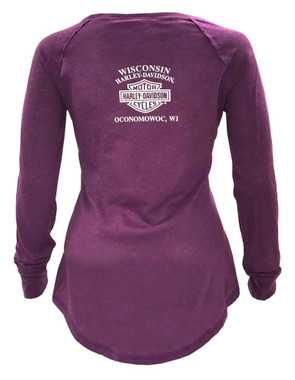 Harley-Davidson Women's Deception Palace Long Sleeve Raglan Shirt 5V36-HD0E - Wisconsin Harley-Davidson