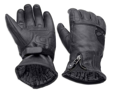 Harley-Davidson Men's Admiral Under Cuff Gauntlet Gloves, Black 98226-18VM - Wisconsin Harley-Davidson