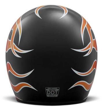 Harley-Davidson Men's Retro Flame B01 3/4 Helmet, Gloss Black 98209-18VX - Wisconsin Harley-Davidson