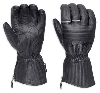 Harley-Davidson Men's Wilder Insulated Gauntlet Gloves, Black 98221-18VM - Wisconsin Harley-Davidson