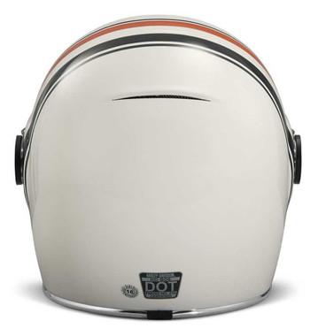 Harley-Davidson Men's Vintage Stripe B06 Full-Face Helmet, White 98145-18VX - Wisconsin Harley-Davidson