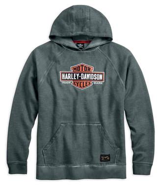 Harley-Davidson Men's Genuine Classics Pullover Hoodie, Heather Gray 99030-17VM - Wisconsin Harley-Davidson