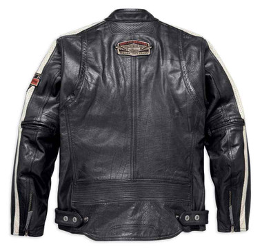 Harley-Davidson Men's Command Mid-Weight Leather Jacket, Black 98007-18VM - Wisconsin Harley-Davidson