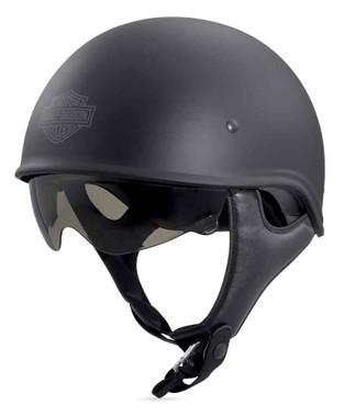 Harley-Davidson Men's Curbside Sun Shield X06 Half Helmet, Black 98240-18VX - Wisconsin Harley-Davidson