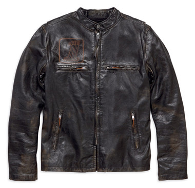 Harley-Davidson Men's Speed Distressed Slim Fit Leather Jacket 98004-18VM - Wisconsin Harley-Davidson