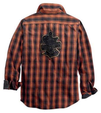 Harley-Davidson Men's Oak Leaf Plaid Slim Fit Long Sleeve Shirt 99010-18VM - Wisconsin Harley-Davidson