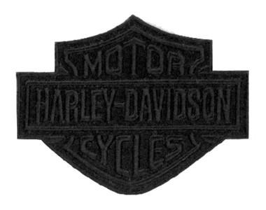 Harley-Davidson Black Bar & Shield Emblem Patch, SM 4 x 3.125 inch EM302302 - Wisconsin Harley-Davidson