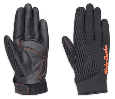 Harley-Davidson Women's Osminda Mesh & Leather Full-Finger Gloves 98247-18VW - Wisconsin Harley-Davidson