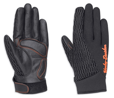 Harley-Davidson Women's Osminda Mesh & Leather Full-Finger Gloves 98247-18VW - Wisconsin Harley-Davidson