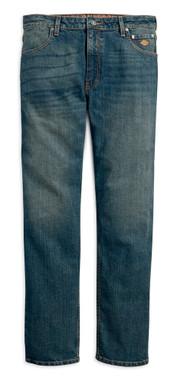 Harley-Davidson Men's Straight Leg Fit Modern Stretch Jeans, Indigo 99054-18VM - Wisconsin Harley-Davidson