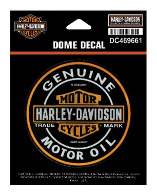 Harley-Davidson Dome Motor Oil Bar & Shield Decal, XS 3.375 x 3.375 in DC469661 - Wisconsin Harley-Davidson